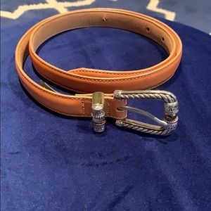 M/L Brighton belt in camel color 1 added hole